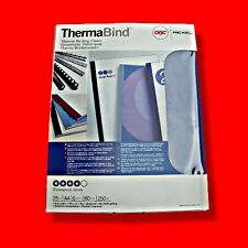 ►box 25x GBC ThermaBind A4 9mm Thermal Binding Clear Covers Blue Card Back