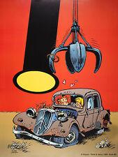 Affiche, Janry, Le Petit Spirou : La Traction   60 x 80 cm