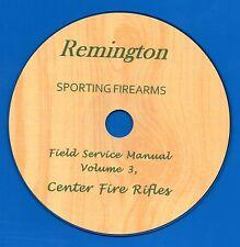 Remington Firearms, Field Service Manual, Volume 3, Center Fire Rifles CD-ROM