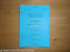 User handbook for Radio Station UK/PRC-320.