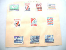 LOT OF 10 RUSSIA SOVIET UNION  RUSSIAN MATCH BOX TOPS 1959 SPACE MAY 1ST?