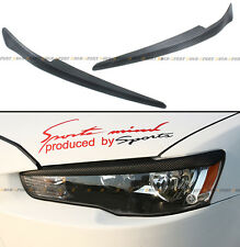 FOR 08-16 MITSUBISHI LANCER GTS EVO X ABS CARBON TEXTURE HEADLIGHT EYE LID COVER