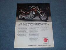 1986 Suzuki Intruder VS700GL Vintage Motorcycle Ad