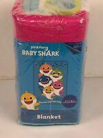 Pink Fong Baby Shark Doo Doo Doo Plush Blanket New