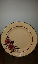 "Antique 1900- Badonviller, FRANCE 'STRASBOURG' 12.25"" Platter Yellow W/ ROSES"