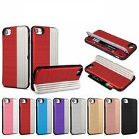 Kickstand Card Slot Armour Shockproof Hybrid Case Cover For iPhone 6s 7/8 7Plus