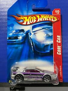1/64 HOT WHEELS CODE CAR LOTUS ESPRIT 10/24 SILVER WITH BLACK AND PURPLE DETAILS
