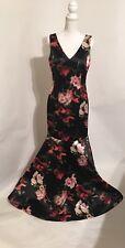 New David Meister Women's Size 10 Black Floral Dress Retail Price $895
