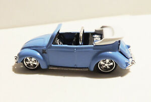 "Maisto VW BEETLE CABRIOLET 1:64 ""baby blue""~RR's~2006 Ridez Custom Shop*****MINT"