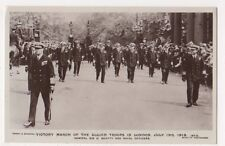 Victory March in London 1919, Admiral Beatty & Naval Officers RP Postcard, B590