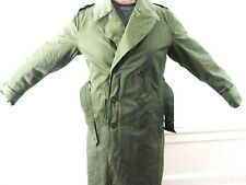 VINTAGE FOSTER WOOL COTTON US ARMY COLD WEATHER MEDIUM LONG TRENCH COAT JACKET