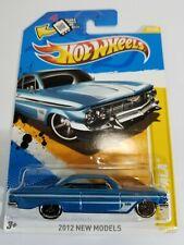Hot Wheels '61 Impala Blue 2012 New Model New on Card