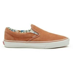 RARE New Vans Classic Slip-On Suede Sherpa Sunburn/Marshmallow Sneakers 2020 NWT