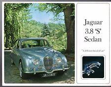 Jaguar S-Type 3.8 Litre Mid 1960s USA Market Foldout Sales Brochure