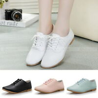 Chic Women Girl Sweet Flat Lady Lace-up Shoes Casual Round Head Oxfords Shoe