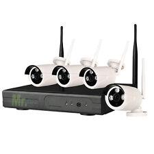 Videosorveglianza wireless IP 4 canali 1080 HD 4 telecamere 2 MPX WIFI HD 500 GB