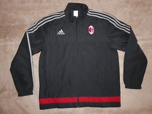 AC Milan 2015/2016 Training Pre-match Jacket Track Top Adidas Jacke L MINT!