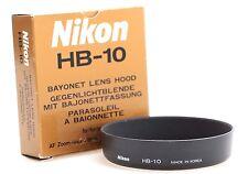 Genuine Nikon HB-10 Bayonet Lens Hood for 28-80mm f3.5-5.6 D-AF Lens New HB10