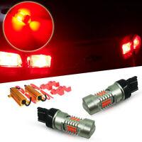 2pcs Load Resistors Red T20 7443 7440 Car LED Light Bulbs For Tail Brake Lights
