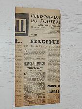 FRANCE FOOTBALL OFFICIEL HEBDOMADAIRE FFF N°427 25/05 1954