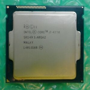 Intel i7 Quad Core i7-4770 SR149 3.40GHz 8M 5GT/s Socket 1150 Processor CPU