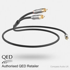 QED Performance J2P 1.5m Graphite 3.5mm Mini Jack to 2 RCA Phono Audio Cable