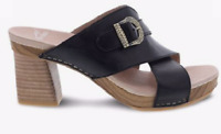 NIB Dansko Women's Amy Black Burnished Calf