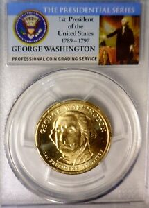 2007d PCGS MS65 1st DAY Of ISSUE GEORGE WASHINGTON $1 Dollar GEM BU Coin   NR