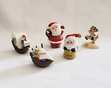 Lot of 5 Hallmark Merry Miniatures Include Christmas Ships