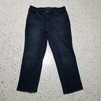 So Lifting by Chicos Women's Denim Blue Jeans ~ Sz 2 Short ~ Cotton Blend