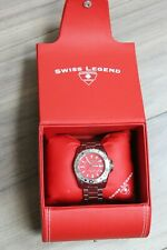 Swiss Legend 9100-55 Grande Sport Red Dial Men's Wristwatch