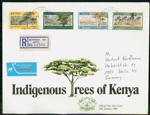 Mayfairstamps Kenya FDC Trees Combo Reg Mombasa First Day Cover wwm_38839