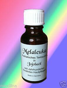 Melaleuka in Jojobaöl Melaleuca alternifolia Teebaumöl 1 x 20ml Fl.
