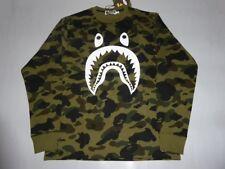 15817 bape 1st camo shark long sleeve green tee XXL
