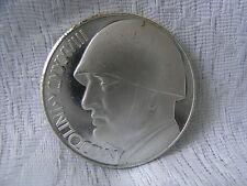 ITALIEN SILBERMÜNZE 20 LIRA MVSSOLINI 1945