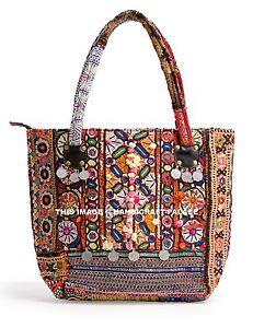 Indian Banjara Tote Bag Antique Banjara Bag Vintage Afghani Zari Embroidery Bag
