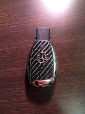 Carbon Schwarz  Glanz Folie Dekor Schlüssel Mercedes A B C D E G S Klasse AMG