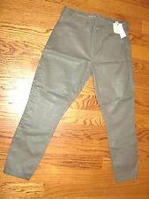 "NWT$98.00""BANANA REPUBLIC""Olive Green Faux Leather Skinny Pants size P/27""W CUTE"