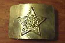 Original Russian Soviet Army Uniform Brass Belt Buckle USSR  NOS