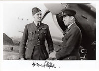 WWII WW2 RAF Ace Battle of Britain STEPHEN DSO DFC hand signed aircraft photo