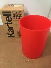 New, original Kartell Waste Bas 00006000 ket / Trash Can in Translucent Red (Oop)