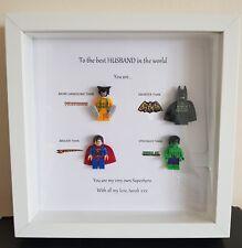 Personalizzato MIGLIORE marito Supereroe CORNICE regalo di compleanno ragazzo Partner Fidanzato