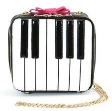 Sleepyville Piano Keyboard Musical Critters Satchel Purse Bag in Vinyl Material