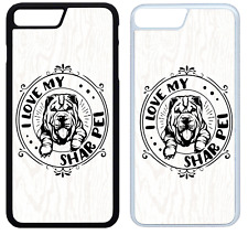 I Love My Shar Pei Phone Case Cover iPhone 4 5 6 7 8 X XR XS Max Plus