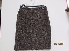 Junior size 11 vtg A. Byer USA Fall Black Brown Knotted Knot SKIRT Career KM