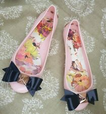 Ladies Ted Baker Pink & Black  JULIVIA  Bow pump shoes size Uk 4 eu 37