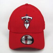 c85a76139ea New Era Men s NFL Tennessee Titans T-Sword Logo Red 3930 Stretch Fit Cap -