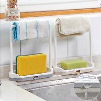 2X Dish Cloths Rack Shelf Sponge Holder Home Kitchen Clip Rag Storage Stand Rack