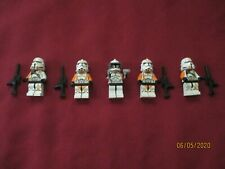 LEGO Star Wars Minifigures LOT.  Clone ,212th Battalion Clone Troopers & Weapons