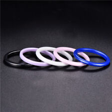 Fashion Ceramic Smooth Rings Unisex Women Men Colorful Wedding Band Jewelry Gift